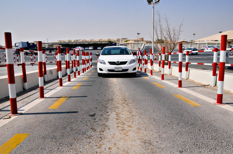 how to pass parking test in qatar